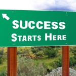 Success Starts Here Sign