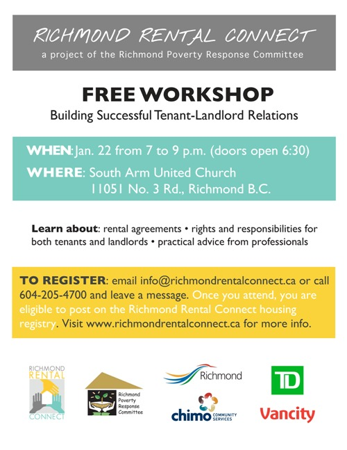 Tenant Landlord Successful Relations Workshop Jan 22 2015