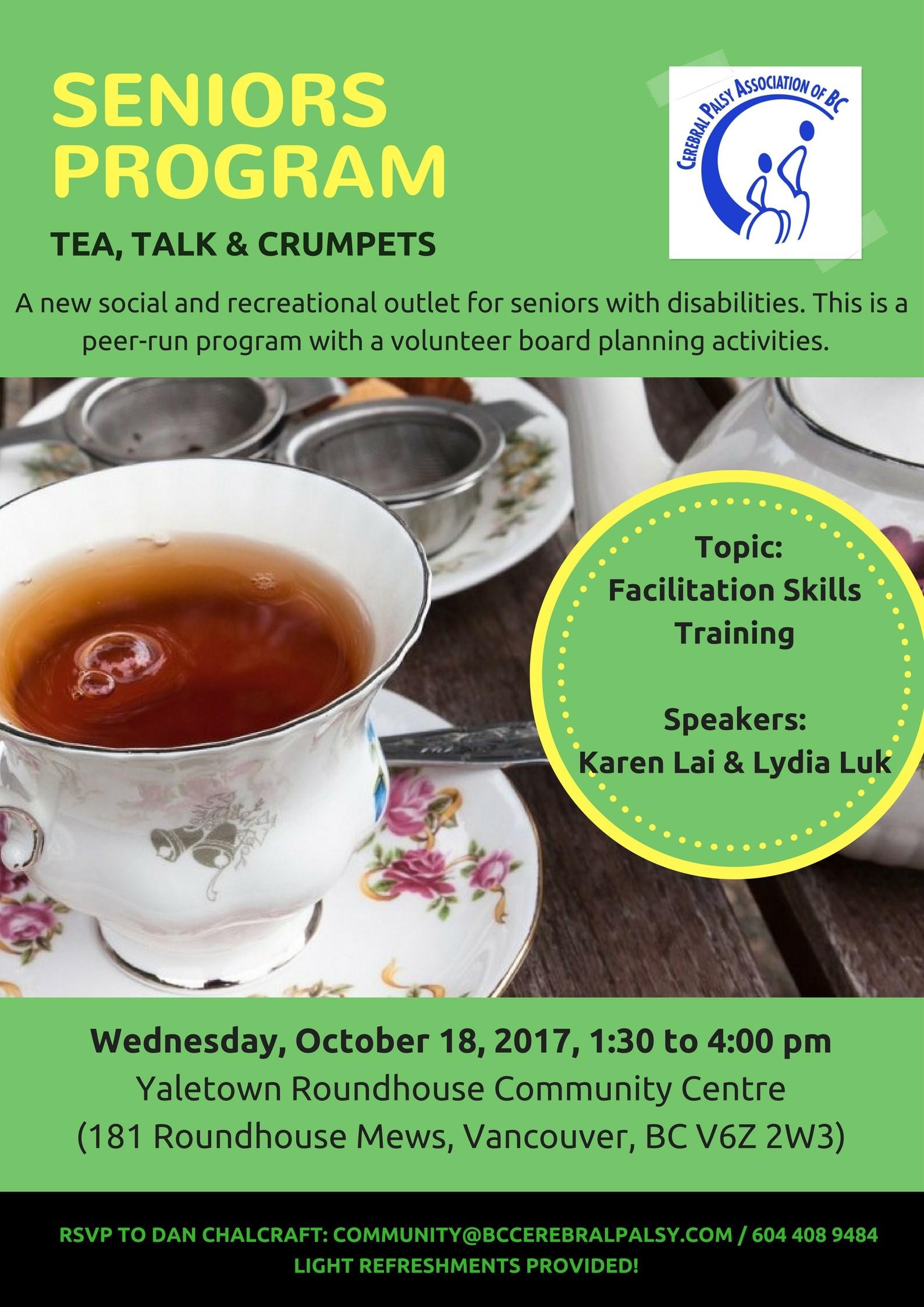 tea, talk, & crumpets-October 18, 2017