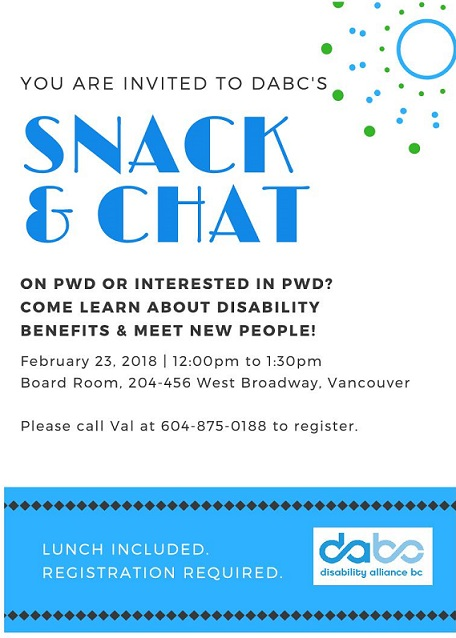 Snack & Chat Feb 2018 Poster