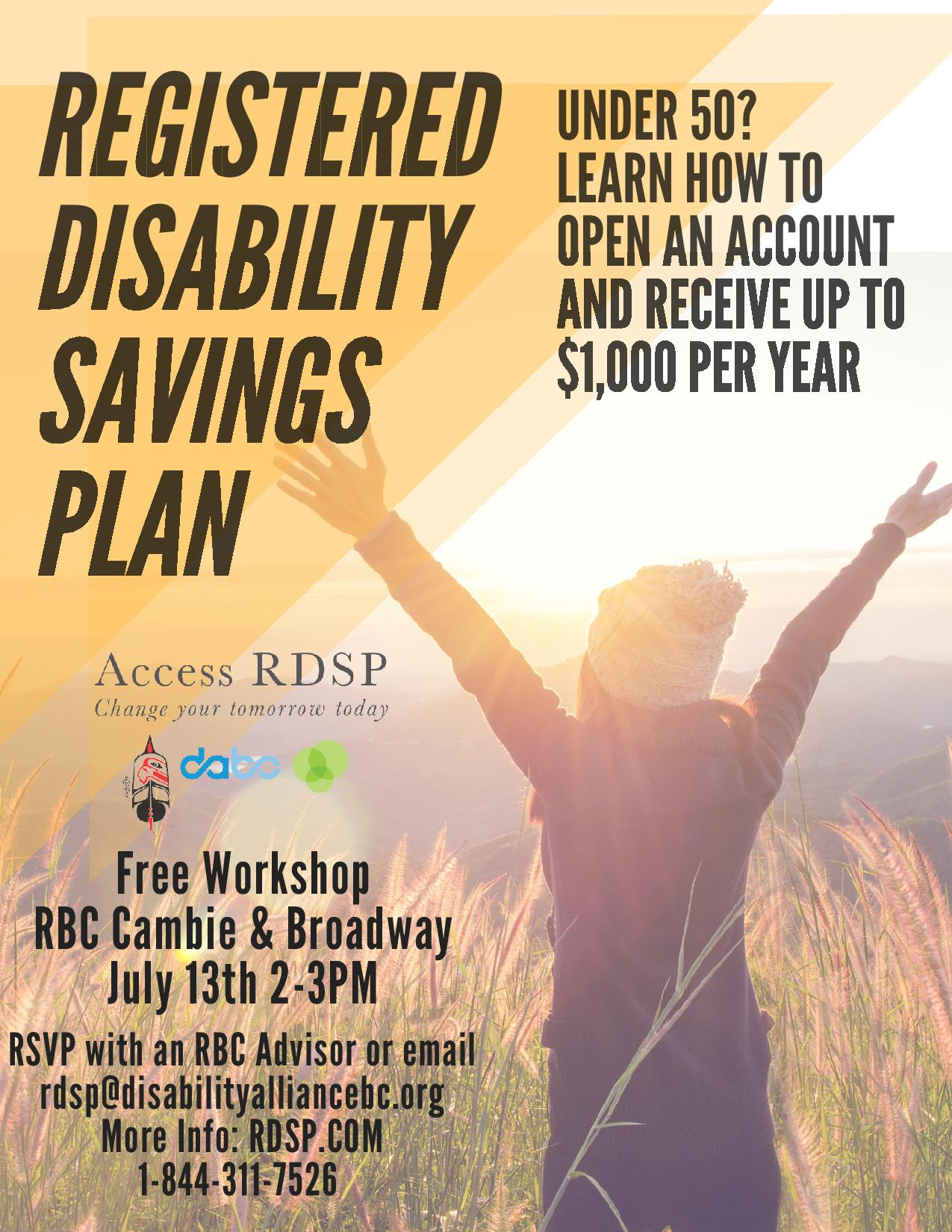 Free Workshop On The Registered Disability Savings Plan At