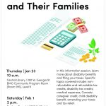Tax Tips for People with Disabilities and their Families workshop poster