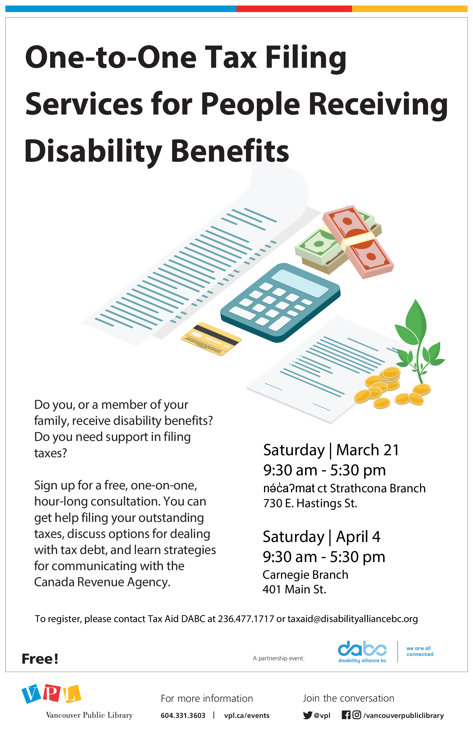 VPL - PLG - One-to-One Tax Filing Disability Benefits - Poster - 2020-03-21 - 2020-04-04(2)