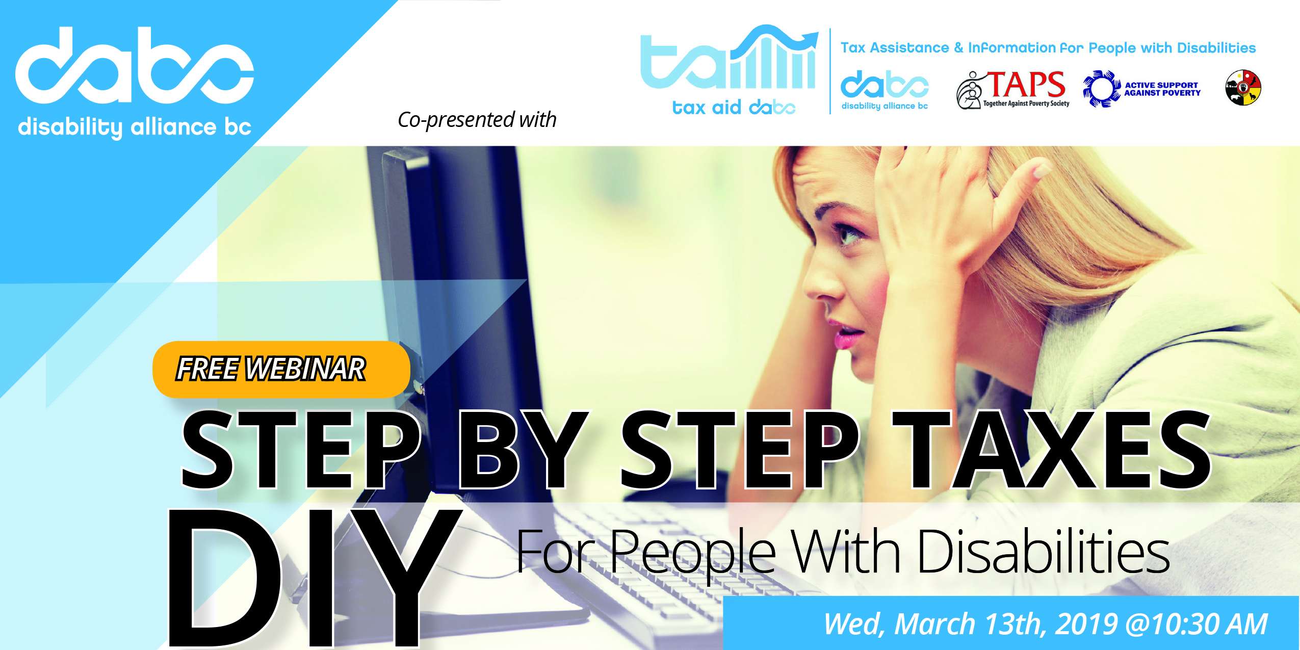 Webinar Step By Step Taxes Diy For People With Disabilities Dabc