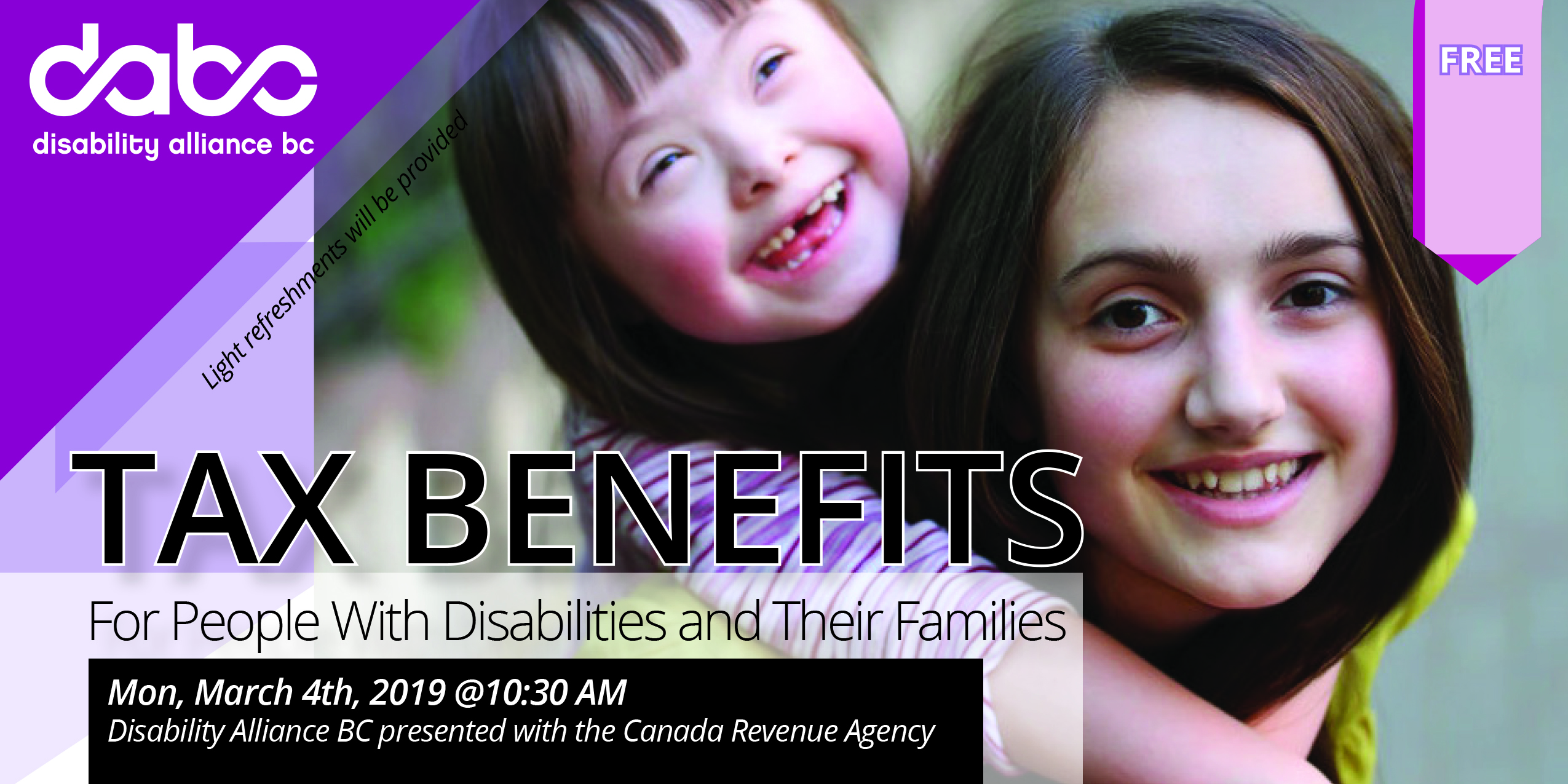 Web banner-Tax Benefits for the People with Disabilities