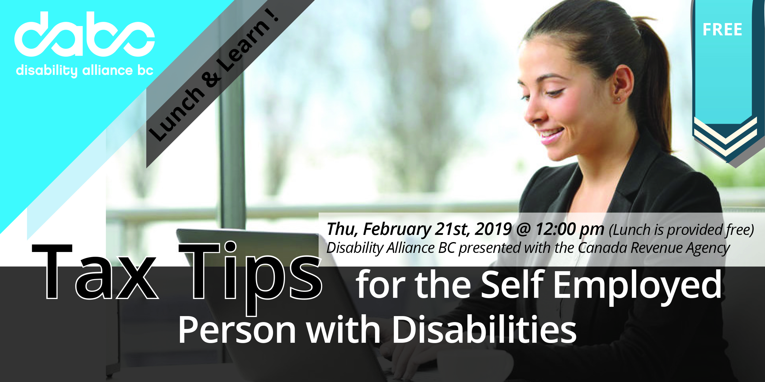 Web banner-Tax Tips for the Self Employed Person with Disabilities