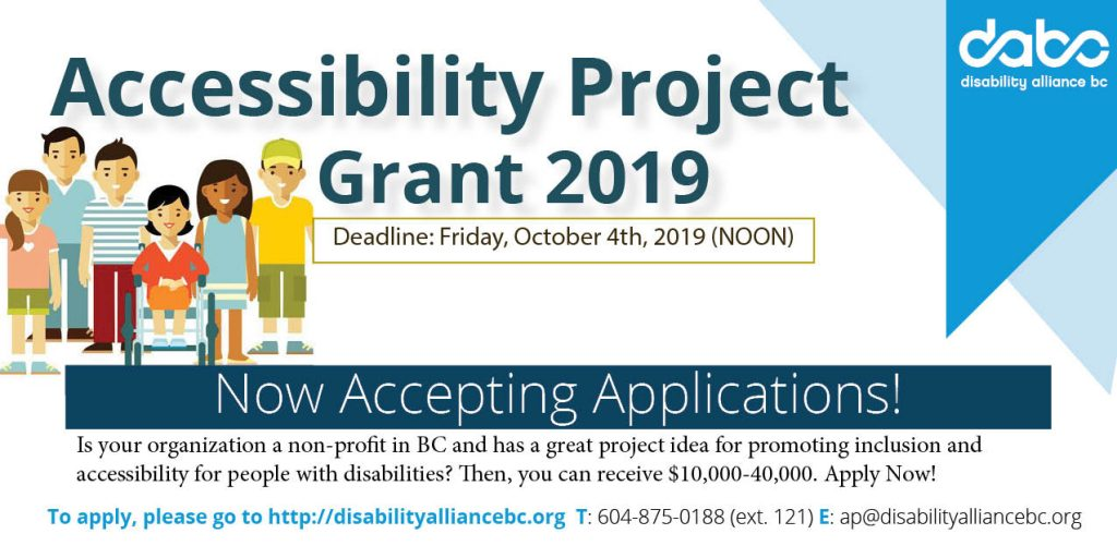 Accessibility Project Grant banner