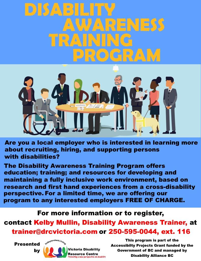 Poster: Disability Awareness Training Program