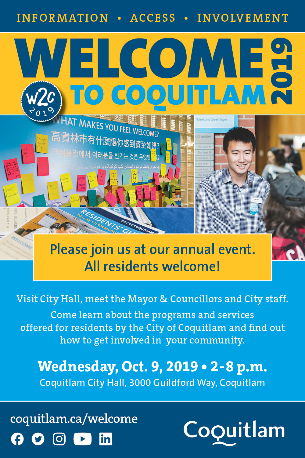 Welcome to Coquitlam event poster