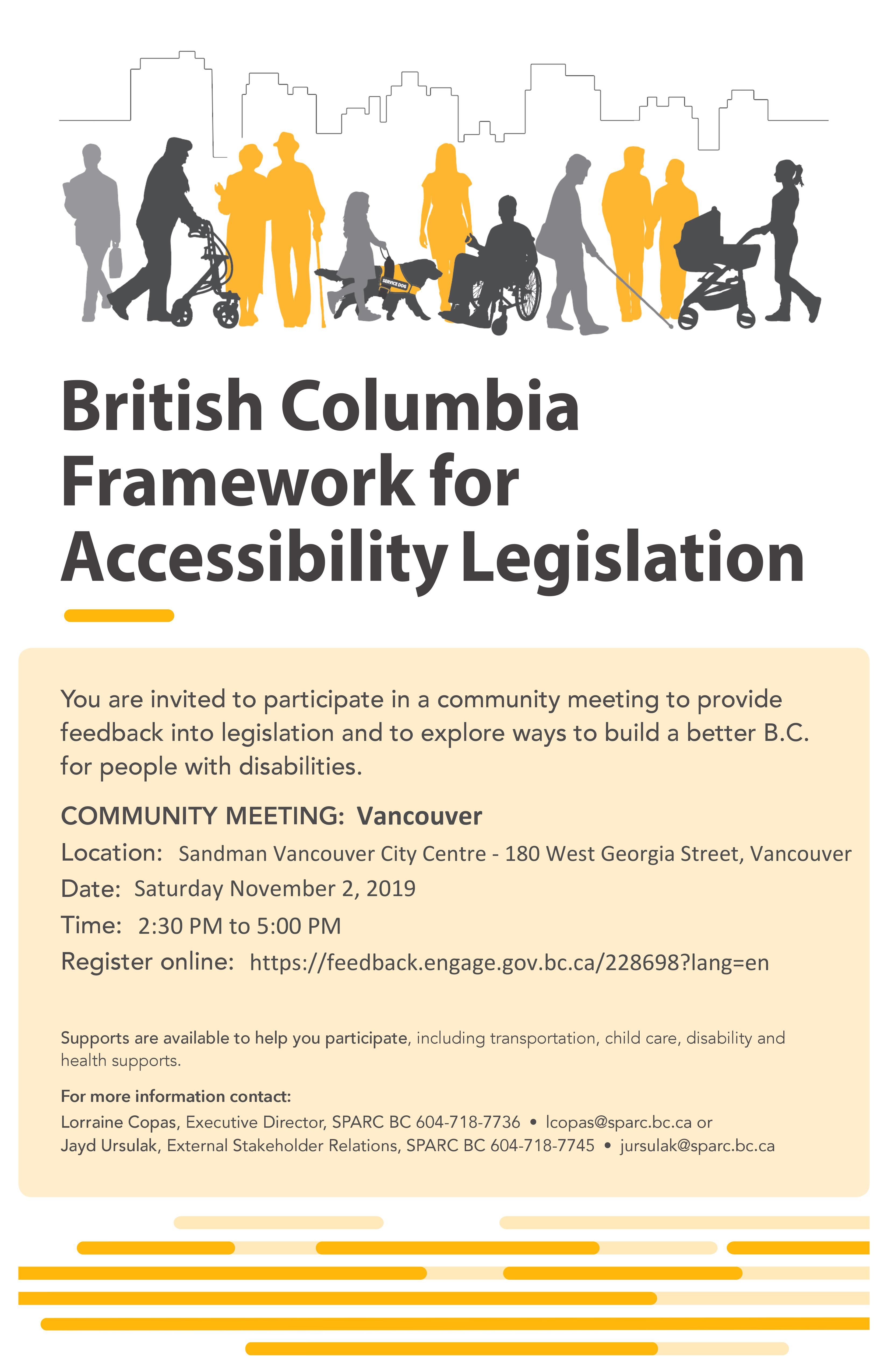 Vancouver Community meeting poster
