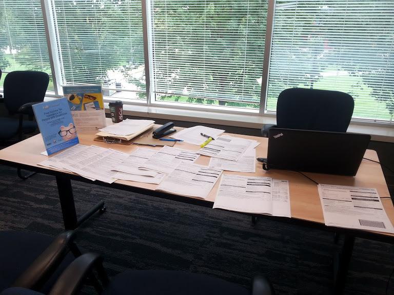 Photo: tax clinic display