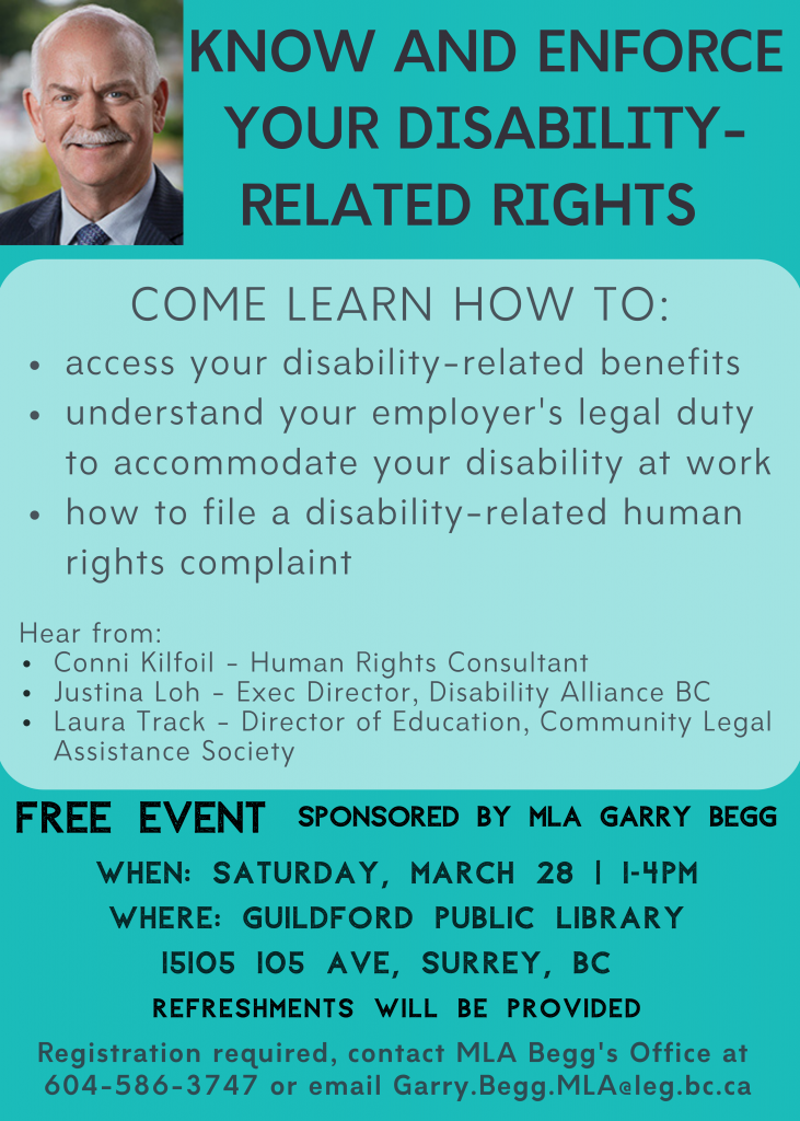 Disability Rights Forum poster
