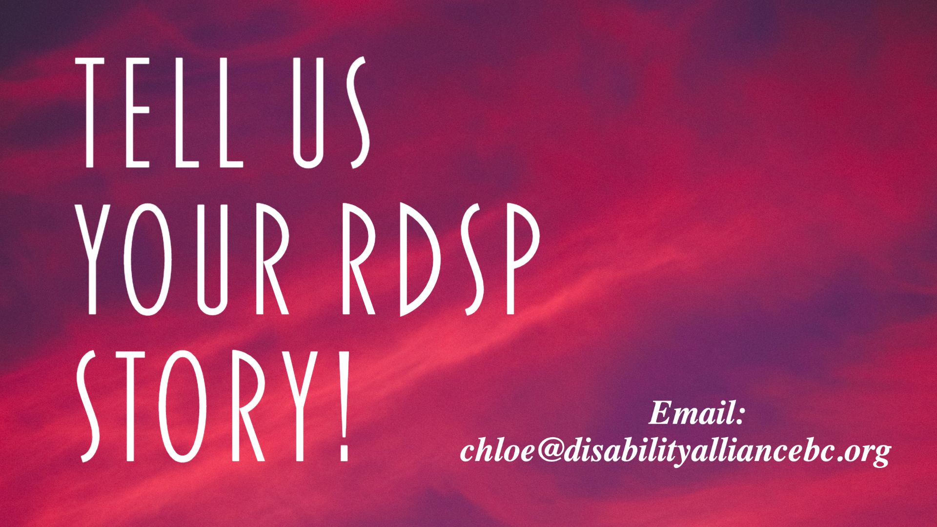 RDSP call